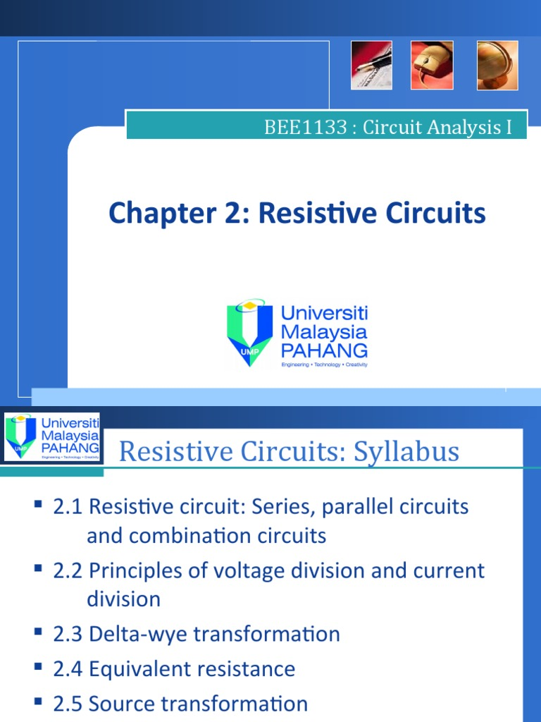 Ch2 Resistive Circuits Series And Parallel Network Circuit Examples Resistors In Resistor Analysis Electrical