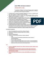 Examen Final de Base de Datos II