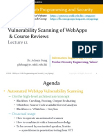 IERG4210Vulnerability Scanning of WebApps & Course Reviews