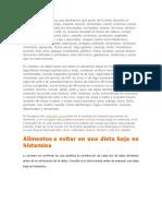 Resumen Dieta Histamina