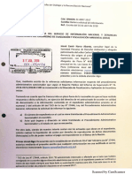 Carlos Chapilliquén - Denunciante solicita nuevamente a coordinadora del Servicio de Información Nacional y Denuncias Ambientales del OEFA información sobre su denuncia