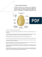 Valor Nutricional de La Papa