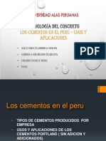 Cementos en El Peru