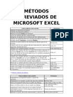Metodos Abreviados Del Excel