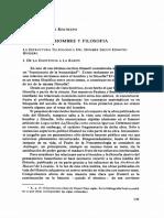 Hombre y Filosofía. La Estructura Teleológica Del Hombre Según Edmund Husserl