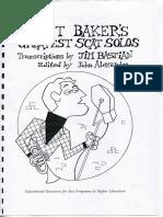 Chet Baker Scat Solos