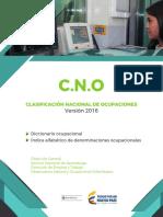 Cno2016_v1clasificacion Nacional de Ocuoaciones