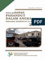 Kecamatan Pahandut Dalam Angka 2016