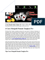 4 Cara Menjadi Pemain Tangkas Pro