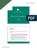 3 Slides - What's in Your Gradebook