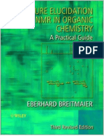 Structure Elucidation by NMR in Organic Chemistry. a Practical Guide by Eberhard Breitmaier