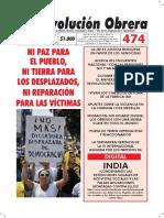 Periódico Revolución Obrera Número 474 de octubre de 2018