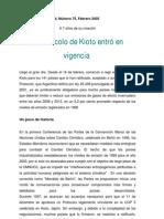 Vigencia Protocolo de Kioto