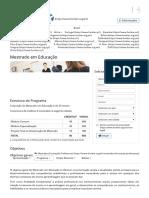 Mestrado Em Educação _ FUNIBER Brasil