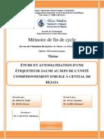 Étude et automatisation d'une étiqueteuse sacmi au sein de l'unité conditionnement d'huile à cevital de bejaia.pdf