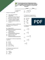 Tema 1. Taller N°1. notación cientifica y conversiones