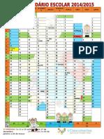 Calendário Escolar Ano Letivo 2014-2015 - 1º Ciclo