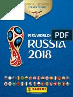 13. Álbum Panini Copa Del Mundo Rusia 2018