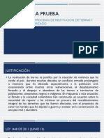 RESTITUCION DE TIERRAS Y DESPLAZAMIENTO FORZADO.