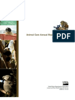 Animal Care Annual Report of Activities 2007