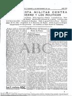 Manifiesto de Miguel Primo de Rivera, publicado en ABC el 14 de septiembre de 1923