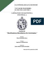 Electrónica de potencia - rectificador monofásico no controlado