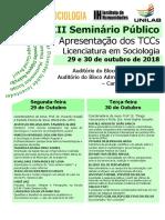 III Seminário Público Socio TCC