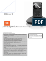 JBL on Stage Micro User Guide