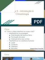 Aula 5 - Introdução à Climatologia