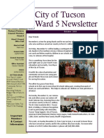 Tucson Vice Mayor Richard Fimbres Ward 5 Newsletter
