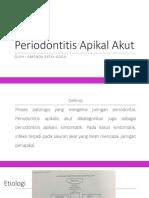Periodontitis Apikal Akut