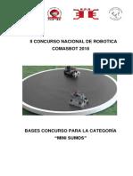 Bases COMASBOT 2018 - Minisumo