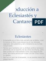 Resumen Ecles y Canta