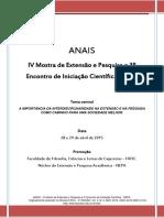 ANAIS - IV Mostra de Extensao e Pesquisa - 2015 - FAFIC