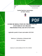 Guide de Rédaction Du PFE-PPFE. ISA-CM