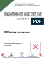 Programmazione Tecnologie Musicali-2 Liceo Musicale