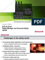 Honeywell EMEA12 DeGroot Safety Manager