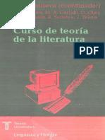 CURSO de Teoria de La Literatura D Villanueva Coordinador