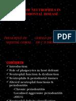 Role of Neutrophils in Periodontal Disease