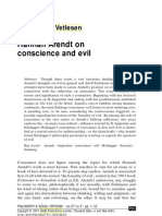 Philosophy s.xx - Hanna Arendt - On Conscience and Evil. en A.J. 2001)