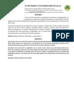 Informe 1 Poscosecha Hortofruticola