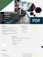 capstone status report