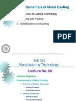 Fundamentals of Metal Casting PPT