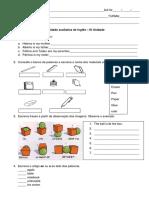Teste de Ingles e portugues