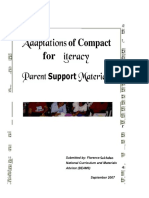 Adaptions of Compact for Literacy. Parent Support Materials