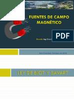 Presentación- Fuentes de Campo Magnético-Ley de Biot Savart-Ley de Ampere.