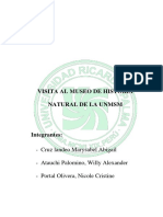 Visita Al Museo de Historia Natural de La Unmsm