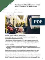 Bbc.com-Por Que o WhatsApp Bloqueou Filho de Bolsonaro e Mais Centenas de Milhares de Usuários Às Vésperas Da