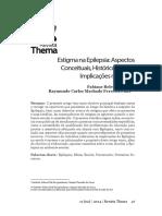 2018 - Set Estigma Na Epilepsia-- Aspectos Conceituais - Históricos e Suas Implicações Na Escola - Epilepsia - Mitos - Escola - Preconceito - Primeiros Socorros