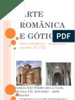 Aula sobre arte românica e gótica